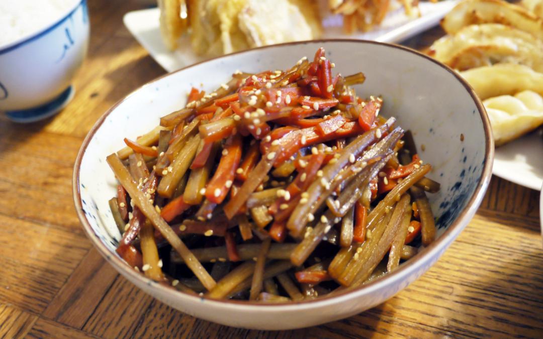 Cách làm món Kinpira Nhật Bản từ cây ngưu bàng